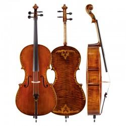 Christina C08 matte antique handmade cello playing professional grade cello musical instrument
