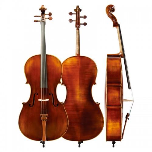 Christina antique handmade Cello C07 matte ebony inlay cello musical instrument