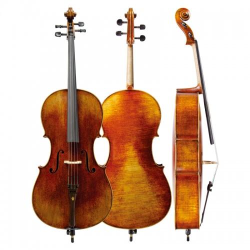 Christina C09D cello high grade tiger pattern antique hand-made cello instrument