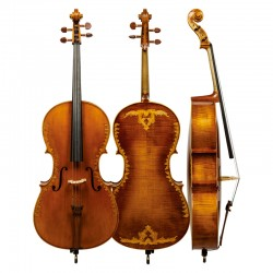 Christina SC200 carved and imported European antique tiger pattern professional cello performance